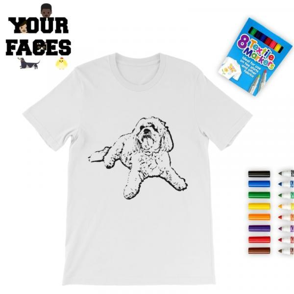 Win Your Faces Colouring In T-Shirt